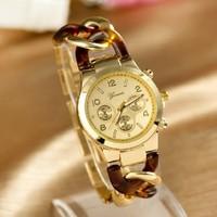 2014 New 50pcs DHL shipping,Fashion women watches ladies Geneva bracelet wristwatches cowboy bracelet watches women alloy band