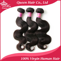 "Queen Hair Products Hot Selling 3 bundles Brazilian Virgin Hair Human Hair Weave Brazillian Body Wave Mixed Length 12""-28"""