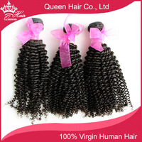 "Queen Hair Products Brazilian Kinky Curly 100% Unprocessed Remy Human Virgin Hair Weave Weft Extensions 3 Bundles lot 12""-28"""