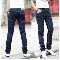free shipping 2014 fashion cheap skinny jeans men skinny pencil pants