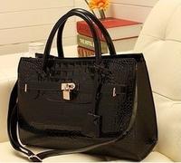 2014 High Quality Leather Female Bags Women Handbags Simple Shinny Messenger Famous Brand Travel Clutch Bolsa Mujer Shoulder