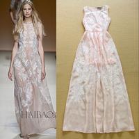 2015 runway dress women's High quality  vintage dresses brand dresses M122001
