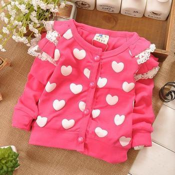 baby Girls spring sweet Хлопок кардиган, kids Вязанный свитер#Z070