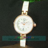 JW-3464 50pcs/lot Wholesale Price Excellent Design Lady Quartz Bracelet Watch Rose Crystal Alloy Dress Watch For Women