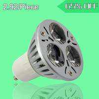High Quality 9W 3*3W LED  bubles 900lm 110-240V Lightning& Lightnings 900lm Gu10 stage Light