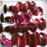 Fashion Queen Hair,30 inch #1BT99J Queen Virgin Hair,Cheap Two Tone Human Hair Brazilian Hair Mix Length 3 pcs Lot Free Shipping