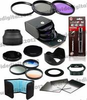 18in1  52MM UV+CPL+ FLD Filter set for Nikon D60 D5000 D3000 D310  + Rubber Lens Hood  +  Square Filter Kit for Cokin P F10