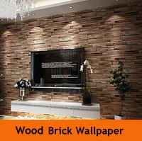 PVC Wood Stone Brick Wallpaper 3D Wall Paper Luxury Vintage Bedroom TV Backdrop Wall Home Decor Papel De Parede Waterproof