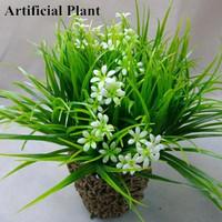 10Pcs Faux silk net flower grass silk flowers Green Yellow Purple artificial Flower for home decoration