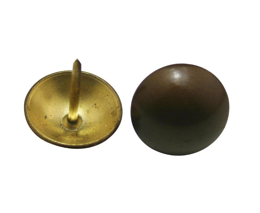 50 Pcs/lot 19 mm Diameter 18 mm Pin Level Length Metal Brown and Golden Hardware Clavos Decorative Nails Tacks Garage Door Nail(China (Mainland))