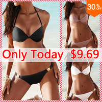 New 2014 Outdoor Fun & Sports Women Swimwear Push Up Sexy Swimsuit Bikini Set Top and Bottoms Beachwear