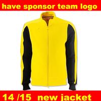 Dortmund jacket  Thailand embroidery  2014 15 Borussia Dortmund jacket New Top Thai Soccer Jacket Winter Autumn Football Coat