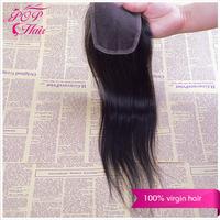 Ali POP Hair brazilian virgin hair straight lace closure 1pcs lot New arrival brazilian virgin hair closure free part