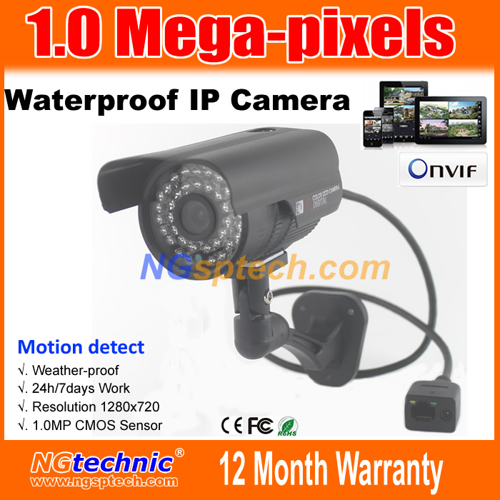 Video show best quality 1Megapixel(1280x720) Night Vision Waterproof IP Camera 720P IR 36 LEDs Onvif Plug&Play free shipping (China (Mainland))