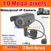 Video show best quality 1Megapixel(1280x720) Night Vision Waterproof IP Camera 720P IR 36 LEDs Onvif Plug&Play free shipping