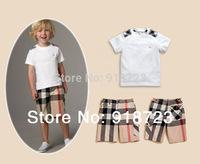 2014 new hot sale newest fashion spring summer children clothing set boys suit set 2 pcs/set short sleeve t-shirt+pant classic