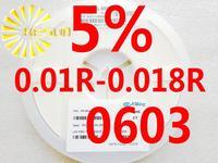 5000PCS 0603 Resistor 0.01R - 0.018R 5% 1/10W SMD Resistor 0603 Chip Resistors