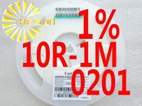 10000PCS 0201 Resistor 10R - 1M 1% SMD Resistor 0201 Chip Resistors