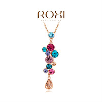 ROXI Exquisite fashion necklace/Chrismas gifts, Austrian crystal,fashion Environmental water drop women Jewelry,2030212680
