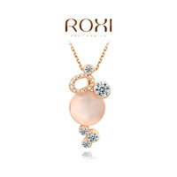 ROXI Exquisite fashion Opal necklace/Chrismas giftsAustrian crystal,fashion Environmental  double sets Jewelry,2030218430