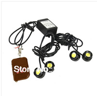 Free shipping 2.5cm 4*6W IP68 strobe flash eagle eye(DC12V)daytime running lights controller reversing light LP13001 Fog lamps