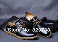 Men's oxfords brand genuine leather classic men shoes timber high quality  leather dress shoes land big size 38~47 FL003