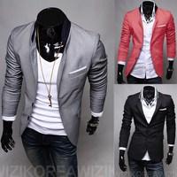 Plus 6 Size S-XXXL 3 Color Men  Slim Suit Jacket supreme style Male Blazer