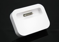 White Color USB Charger Dock Stand With Audio Output Universal Charging Dock Cradle  for Apple iPhone 4 4S 3G A0021