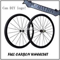 carbon bicycle  wheel   c35 carbon 38mm clincher 3k 700c glossy Wheelset  NOVATEC 271-372 HUB ,free shipping
