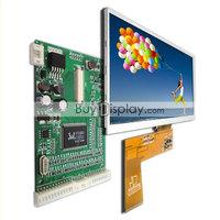 "7"" 7 inch 800x480 TFT LCD Module Display w/VGA,AV Video Driving Board,Optional Touch Panel Screen+USB Controller Driver Board"