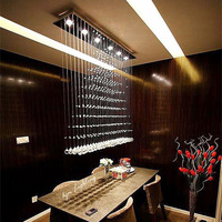 Factory wholesale Pendant light modern Stainless steel staircase Crystal Light