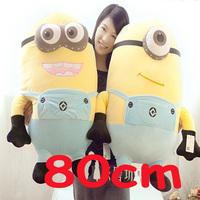 Big Size 80CM Minions 3D Despicable ME Super Big Movie Plush Toy Minions Toys & Hobbies Price for 1PCS Stuffed Animals & Plush