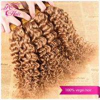 Ali POP Hair Brazilian deep curly hair 4pcs/lot free shipping Brazilain virgin hair  Blonde human hair weave curly