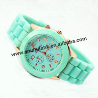 ON SALE!500pcs/lot Fashion Geneva Jelly Quartz Watches Men Women Wrist Watch Candy Colors Sports Silicone Watch Free Shipping