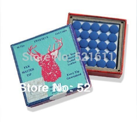 Free shipping!!! 50pcs/lot very cheap 10mm ELK MASTER snooker billiard pool cue tips/10mm billiard accessories wholesales(China (Mainland))