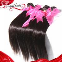 6A Brazilian Straight Human Hair Extensions, Unprocessed Brazilian Virgin Hair Weave Bundles 4pcs Mix Lot Free Shipping