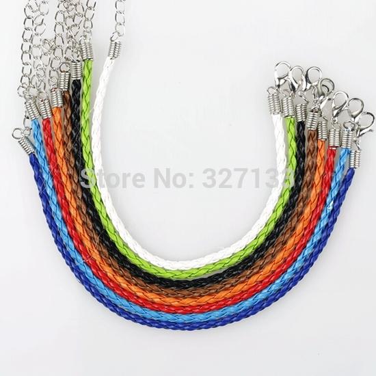 Free Shipping Wholesale Hot New Fashion 110pcs Mix Women Braid Leather Bracelets Anklets Rope DIY Jewelry 20cm S916(China (Mainland))