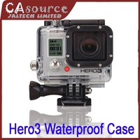 2014 New Go pro Accessories 45M Underwater Waterproof Dive Housing Case Cover for Gopro Hero 3 Sport Camera  With Glass len