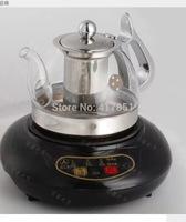 Glass cooker water bottle kettle glass teapot flat bottom pot rapid pot electric heating pot set