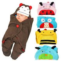 Baby Blanket Coral fleece baby quilt infantil cobertor animal bebe envelopes swaddle aden anais baby Wrap manta sleepping bag