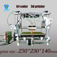 He3D-triclor2  reprappro mendel multicolor tricolor  3d printer  kit  diy  open source  Bigger size machine
