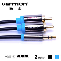 200CM moible phone cables 2 rca aux cables 3.5mm male to male audio cable 3.5mm jack rca stereo digital audio cables