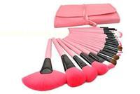 Hot-selling  24 professional cosmetic brush belt bag brush set makeup tools set