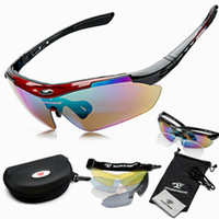 2014 New Unisex Outdoor Sports Cycling Riding Bicycle Bike MTB Road UV400 5 lens Sun Glasses Eyewear Goggle  Free Shipping
