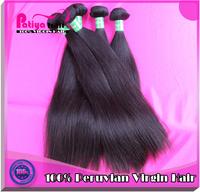 Natural hair products straight grade 6A unprocessed virgin peruvian hair weave 3pc/lot peruvian virgin hair free shipping