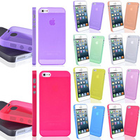 0.3mm  Ultra Thin Slim Matte Frosted Transparent Clear Soft PP Cover Case Skin For iPhone 5 5S Wholesale 50pcs/lot