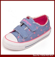 2014 spring  child canvas shoes  princess girls shoes size 23-37 BY0069