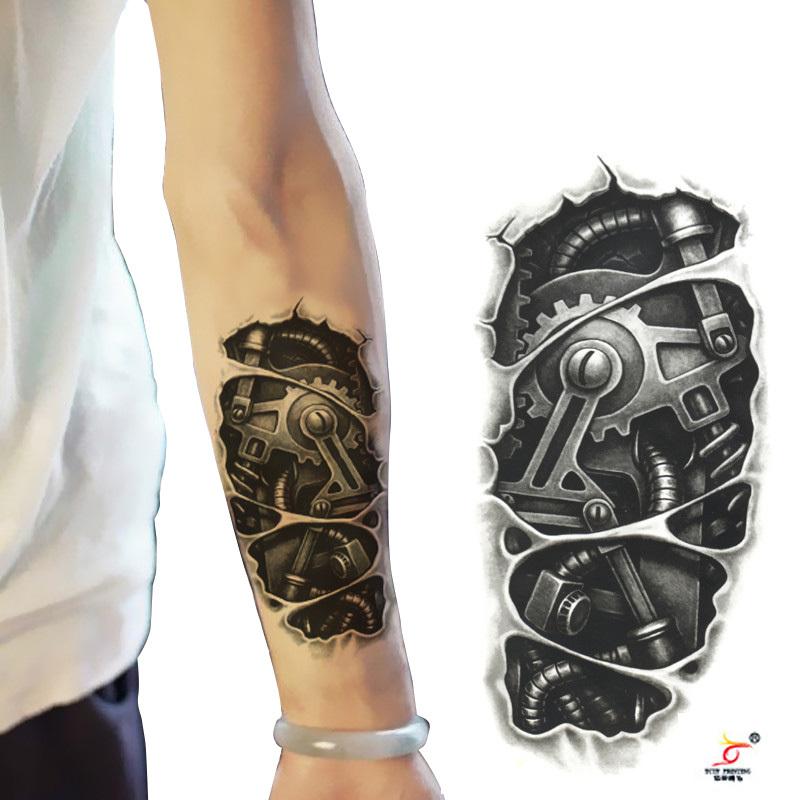 Tatuaje temporal 3d ro...