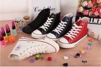 new 2014 red blue black Classic high canvas womens shoes fashion casual platform sneakers for women chaussure femme
