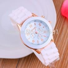 Hot Geneva watch  multicolor jelly watches young school wristwatches fashion quartz watch color women dress watch(China (Mainland))